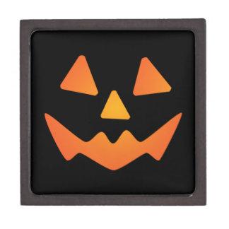 Cara de la calabaza de Halloween Caja De Recuerdo De Calidad