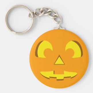 Cara de la calabaza de Halloween Llavero