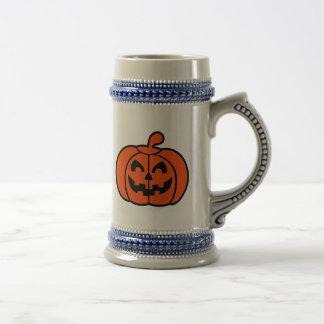 Cara de la calabaza de Halloween Taza De Café