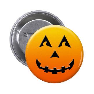 Cara de la calabaza del feliz Halloween Pin Redondo 5 Cm