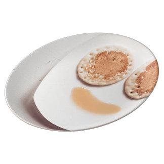 Cara de la crepe plato de cerámica