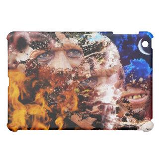 Cara de la cubierta del iPad del hombre