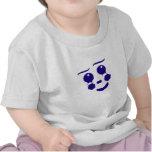 Cara de la forma de la diversión del payaso del camiseta