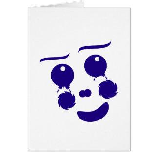 Cara de la forma de la diversión del payaso del tarjeta pequeña