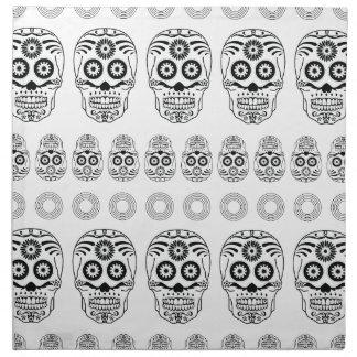 Cara de la impresión épica loca del cráneo de servilleta de papel