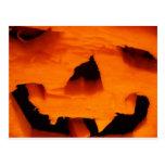 Cara de la Jack-O-Linterna de Halloween Postal