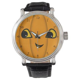 Cara de la Jack-o-Linterna de Halloween Relojes De Pulsera