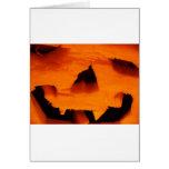 Cara de la Jack-O-Linterna de Halloween Felicitacion