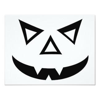 """Cara de la Jack-o-Linterna del vampiro Invitación 4.25"""" X 5.5"""""""