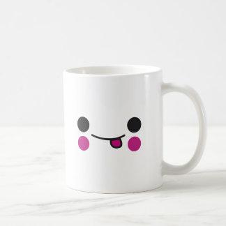 Cara de la lengua tazas de café