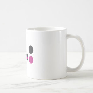 Cara de la lengua taza de café
