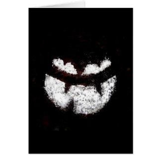 Cara de la linterna de Jack O Tarjeton