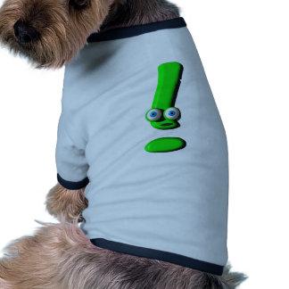 Cara de la marca de exclamación camiseta de perro