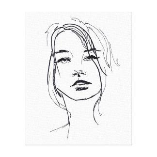 Cara de la moda impresión en lienzo
