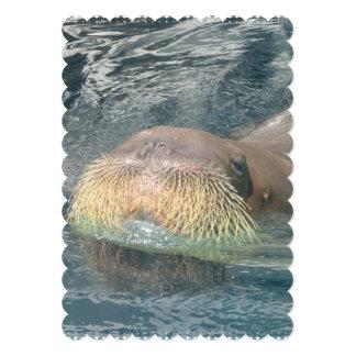 Cara de la morsa invitación 12,7 x 17,8 cm