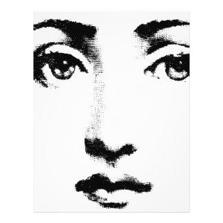 """Cara de la mujer folleto 8.5"""" x 11"""""""