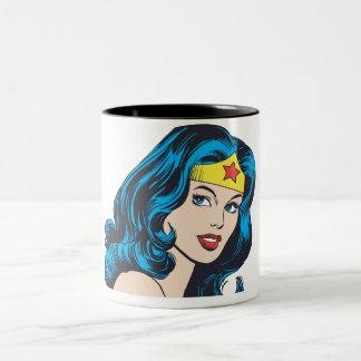 Cara de la Mujer Maravilla Tazas De Café