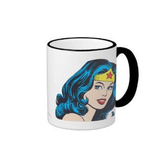 Cara de la Mujer Maravilla Taza De Café