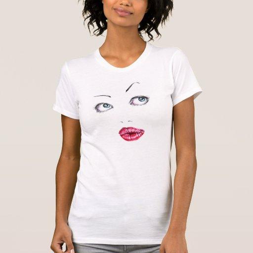 Cara de la muñeca camisetas