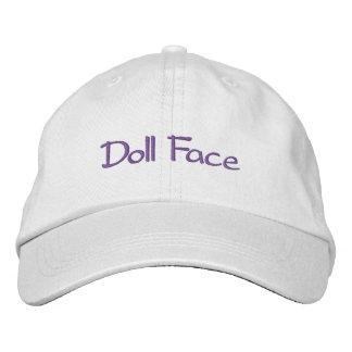 Cara de la muñeca gorra de beisbol bordada