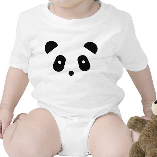 Cara de la panda de Kawaii Trajes De Bebé