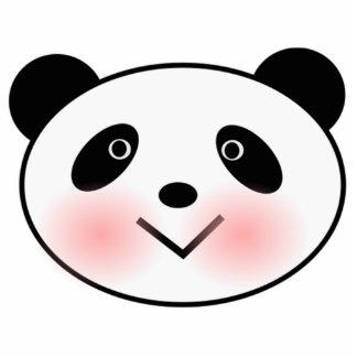Cara de la panda del dibujo animado esculturas fotográficas
