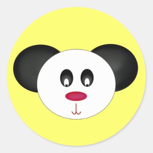 Cara de la panda etiquetas