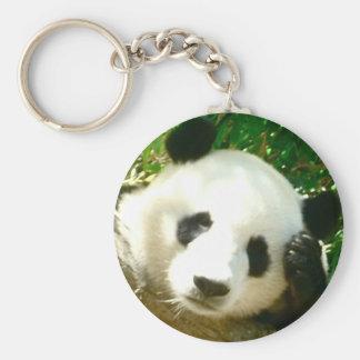 Cara de la panda llavero redondo tipo pin