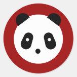 Cara de la panda pegatinas redondas