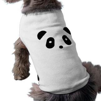 Cara de la panda playera sin mangas para perro