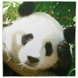 Cara de la panda servilletas imprimidas