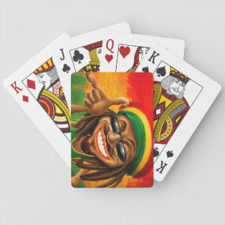 Cara de la paz del reggae de Cori Reith Rasta Barajas De Cartas