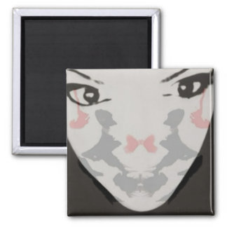 Cara de la prueba de Rorschach Imán Cuadrado