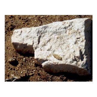 cara de la roca postal
