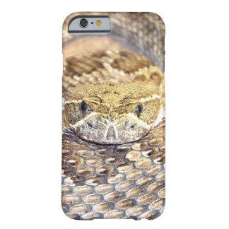 Cara de la serpiente de cascabel funda de iPhone 6 barely there