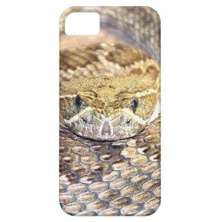Cara de la serpiente de cascabel iPhone 5 carcasas