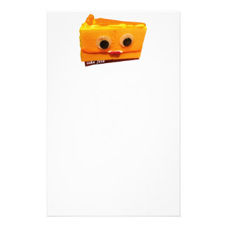 cara de la torta de la naranja amarga con el personalized stationery