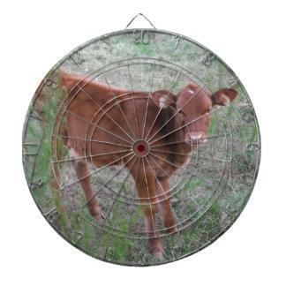 Cara de la vaca de Brown del bebé Tablero De Dardos