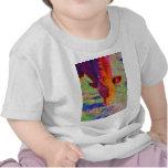 Cara de la vaca de Brown del bebé. HIERBA DEL ARCO Camiseta