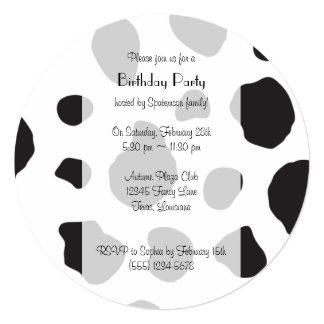 Cara de la vaca, nariz de la vaca, puntos de la invitaciones personalizada