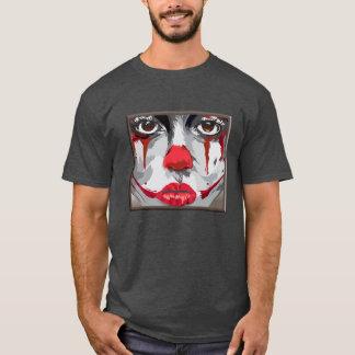Cara de las camisetas de un payaso