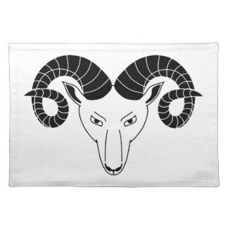 cara de las ovejas del espolón manteles individuales