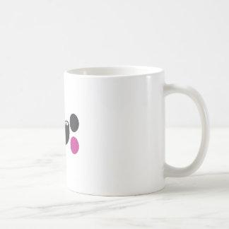 Cara de los dientes tazas de café