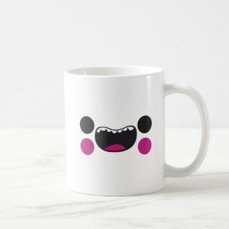 Cara de los dientes taza de café