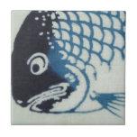 Cara de los pescados - pescado japonés azulejo cuadrado pequeño