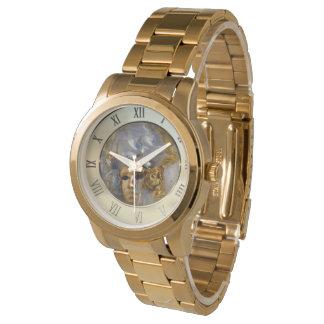 Cara de oro relojes de mano