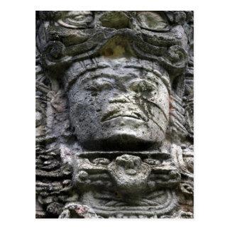cara de piedra del copán postal