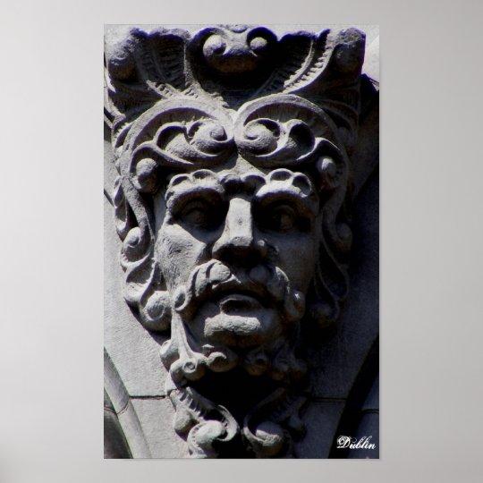 Cara de piedra en Dublín Póster