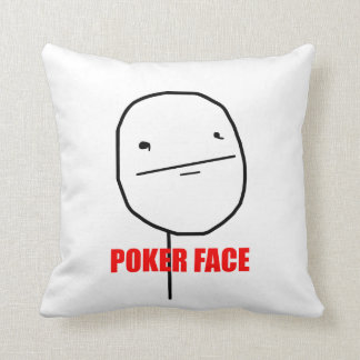 Cara de póker - almohada