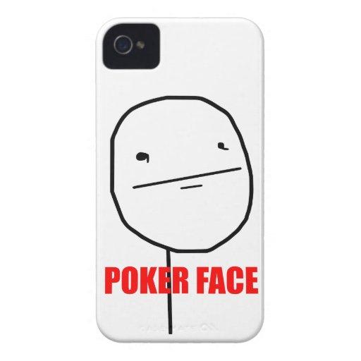 Cara de póker - caso del iPhone 4/4S iPhone 4 Case-Mate Carcasa